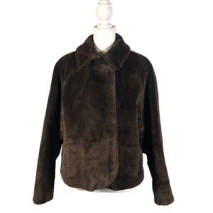 Cloud 9 Nine S Vintage 1960s Faux Fur Coat Brown